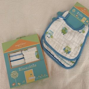 Muslin Bib & Burp Cloth Set